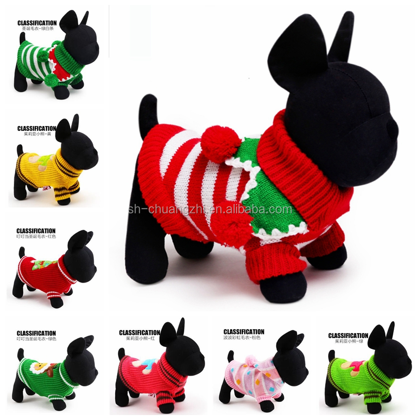2017 FAMA Audit Factory Cheap Qualified Dog Clothes Pet Winter Sweater Knit wear Puppy Clothing Warm Christmas Cozy Pet Coat