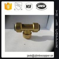 Free Sample ASTM SCH40 PVC Brass Female Thread Tee