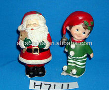 Polyresin santa claus couple for Christmas decoration