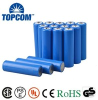 3.7V Cylinderical 18650 Rechargeable Li ion Battery 2000 mAh Long Life & Eco-Friendly For Flashlights