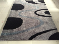 Abstract design of soft polyester shaggy rugs