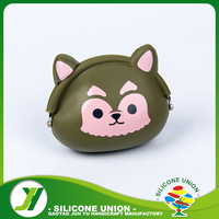 Custom animal silicone mini coin purse