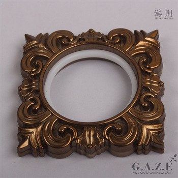 44mm self-tightening light bronze embossed window decorative curtain eyelet plastic ring