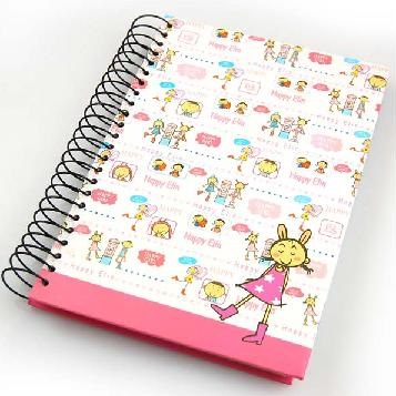 eco recycled frosted plastic spiral notebook