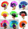 Punk Mohawk Mohican Wig Hair Six Rainbow Colors Costume For Halloween Party W261