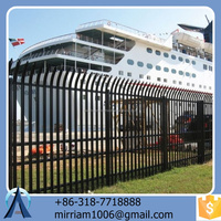 best sale new design customizable hot dip galvanized powder coated cheap cost steel fence with post