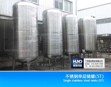 food grade stainless steel hot water storage tank/Sanitary mixing tank/three layer Jacketed reaction vessel