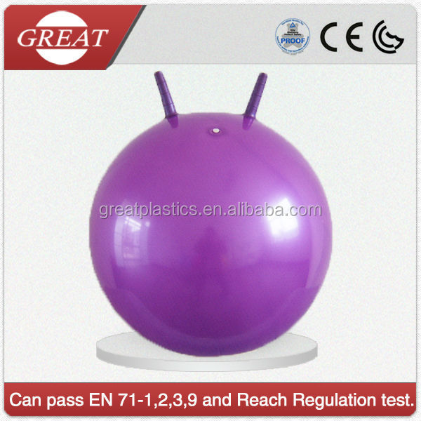plastic ball purple sheep-handle jumping hopper ball