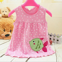 2017 New Summer Baby Girl Princess Dress0-1 Year Birthday Infant Girl Dot Newborn Dresses Baby Girls Cotton Clothes