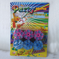 6 refills for Plastic party popper shoots of confetti or streamers 6 bursts for gun use 2014 new products
