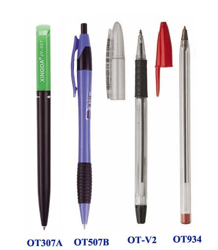 Advertising Gift Cheap logo printed Hotel click plastic Promotional ball pen