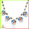 american and european style flower shaped pendant zinc alloy chain chinese necklace