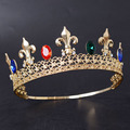 Gold Metal Colored Rhinestone Pageant Tiara And Crown
