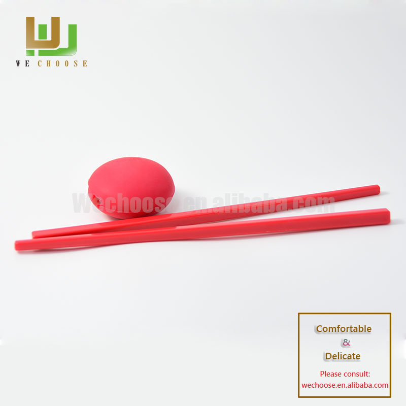 Custom printed training chopsticks with silicone holder for kids