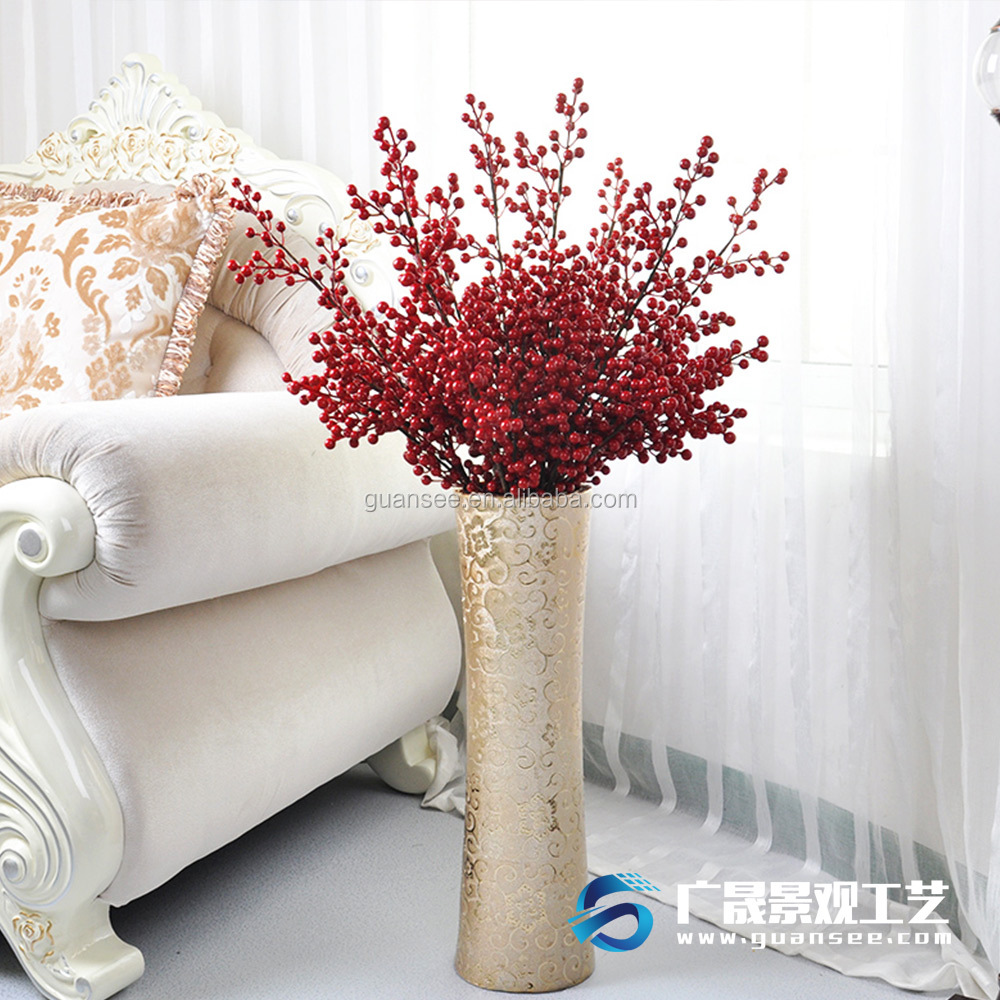 Wholesale more twig artificial plastic red berries