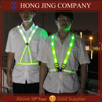 USB Rechargeable Led Vest, Led Running Vest, Flashing Led Safety Vest