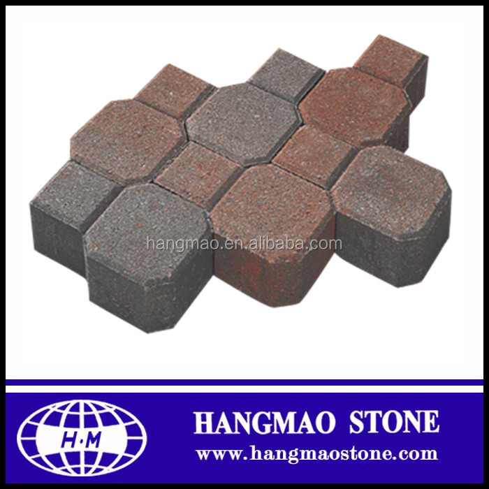 Outdoor water Permeable brick ctagonal paver