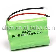 3.6v 600 mah aaa nimh rechargeable battery with competitive price