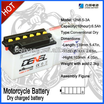 STANDARD MOTORCYCLE BATTERY FOR FLOODED 12N4-3B(12V 4AH)