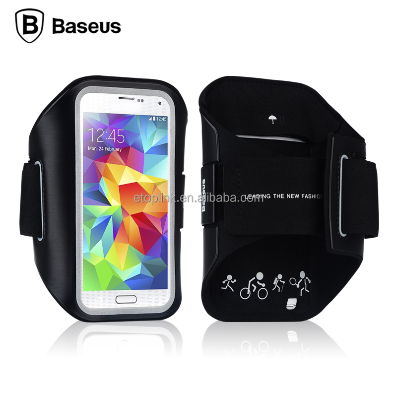 Baseus Universal Sports Running Arm band Phone Case For iPhone Under 5.5 inch Mobile Phone Running Anti- sweat Phone Bag Black