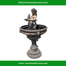 2015 hot sale mordern home decor bronze little mermaid mermaids