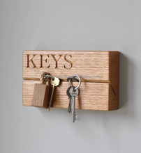 Wall hanging wooden key holders high quality customized wooden key holder