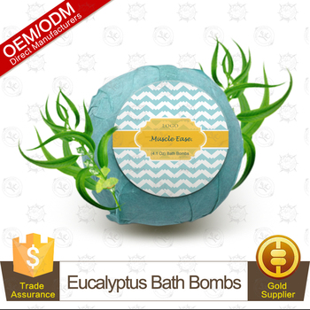Wholesale Natural Eucalyptus Oil Bath Bomb Bubble Bath Perfect for Aromatherapy, Relaxation and Moisturizing