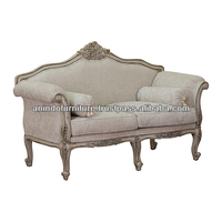 American White Antique Sofa with Upholstered