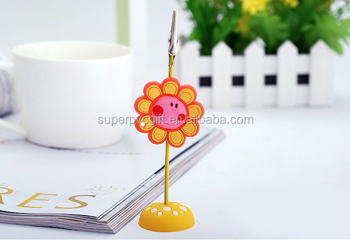 cartoon pvc rubber photo memo clip holder