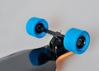 New dual in-wheel hub motor off road electric longboard skateboard