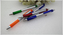 Various color plastic pen metal twist ball pen slim in China mainland