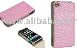New Pink Leather Flip Case Cover For Apple iPhone 3G 8GB 16 GB
