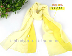 Yellow Color Gradient Spring Summer Chiffon Scarf 2014 SMSP35