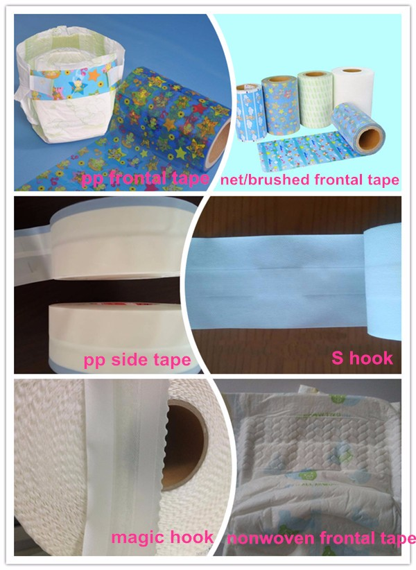 pp frontal tape for baby diaper product