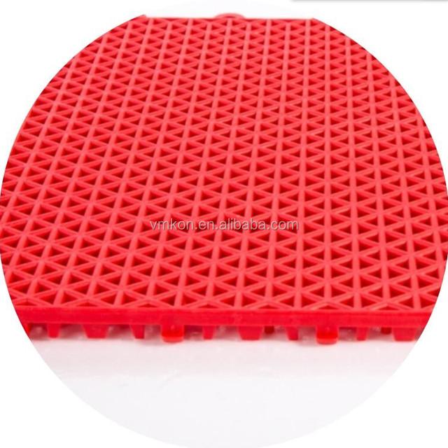 vmkon multi-use sport court flooring recycled plastic suspended surfacing