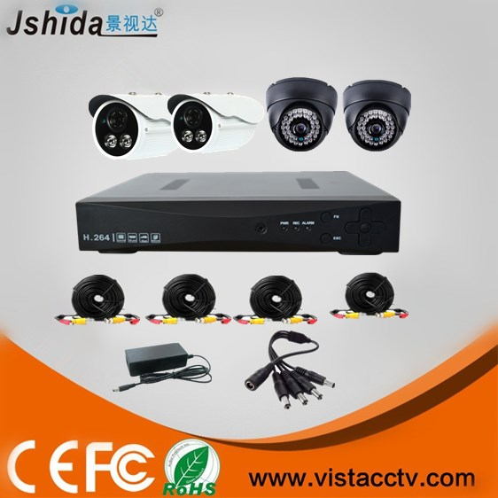 Promotion 4CH CCTV System 960H DVR 4PCS 800TVL IR Weatherproof Outdoor CCTV Camera Diy Home Security System Surveillance Kits