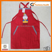 100% cotton cheap bib adult lovely apron with pocket