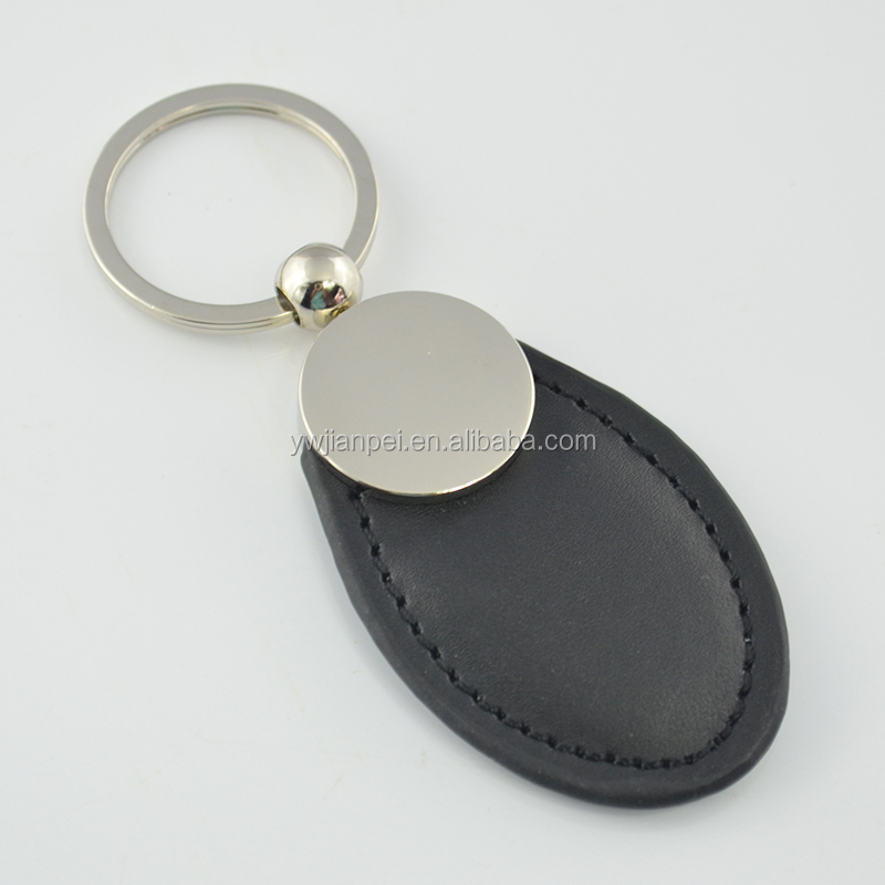 Fancy Metal and Leather keychain with custom Logo