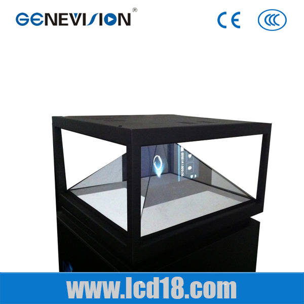 Triangular pyramid virtual imaging technology 43inch holographic display perfection
