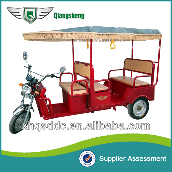 Red Electric Rickshaw For Adults Three Wheel Motorcycle For Indian