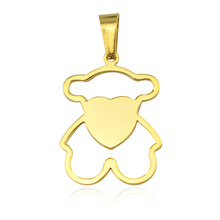 Factory price cheap custom design 316l stainless steel jewelry special shape of pendant chains jewelry