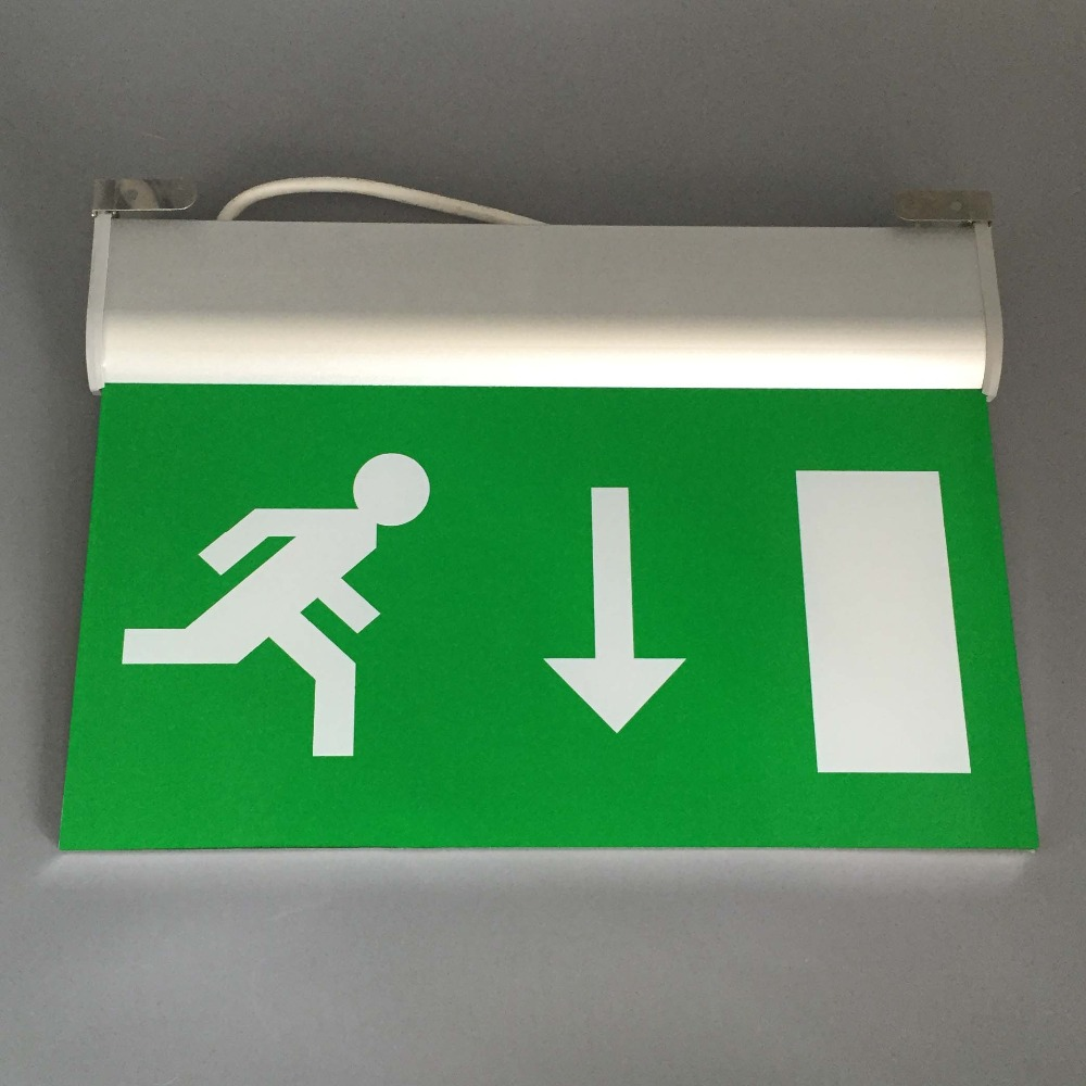 Battery Powered Rechargeable Emergency LED Light Sign