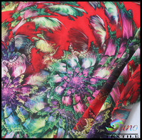 floral printed polyester georgette fabric for fashion dress digital fabric printing printed silk georgette fabric