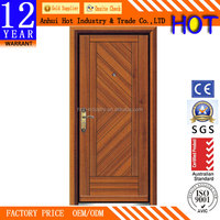 2016 New safety door turkish style steel rolled sheet steel security doors single steel doors with frame