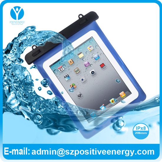 For iPad Waterproof Bag with lanyard water sports using