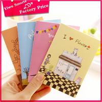 Hot selling fancy Office & School stationery wholesale cheap funny cartoon plain paper notebooks writing pads