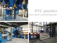 4/5 rolls Calender machine of Sound-absorption PVC plastics floor sheet