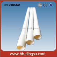 Hot sale white plastic electrical flat conduit 1 inch pvc pipe