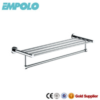 Bathroom stainless steel double towel rack,chrome plated towel rack 927 15