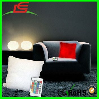 Multicolored Moonlight Remote Control Mood Light LED Couch Pillow
